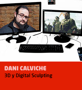 Dani Calviche, 3D y Digital Sculpting
